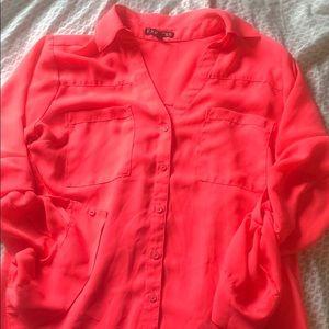 Express portofino hot pink express shirt